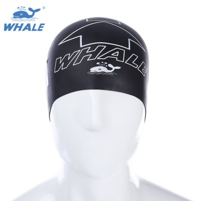 WHALE Professional Silicone Waterproof Swimming Cap for Man Women