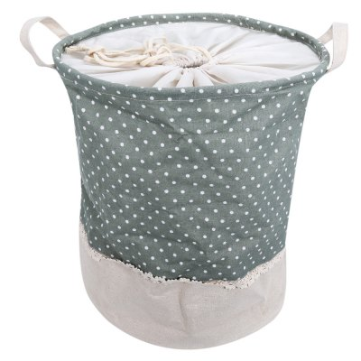 Cotton Linen Dot Pattern Storage Basket