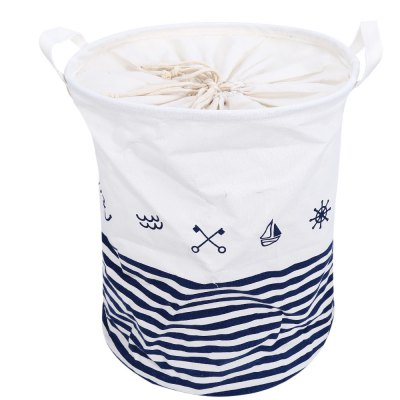 Cartoon Pattern Cotton Linen Storage Basket