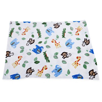 Super Soft Cartoon Print Plus Size Babies Blanket