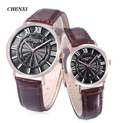 CHENXI 076B Couple Quartz Watch