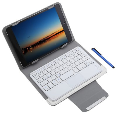 3 in 1 Bluetooth Keyboard Touch Control Tablet Case 7 / 8 inch