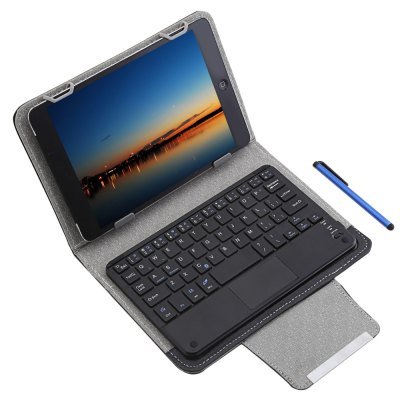 3 in 1 Universal Bluetooth Keyboard Touch Control Tablet Protective Case with Stander for iOS / Android / Windows 7 / 8