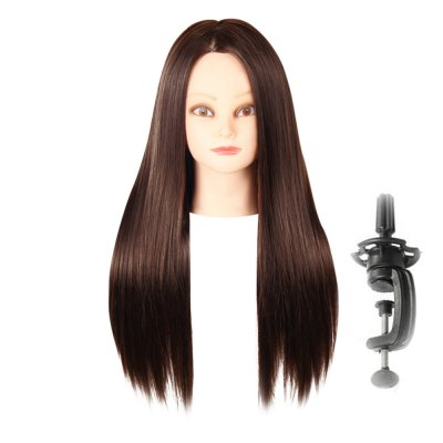 Long Straight Side Parting Wigs with Stand Hair Training Head