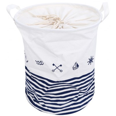 Cartoon Pattern Cotton Linen Collapsible Storage Basket