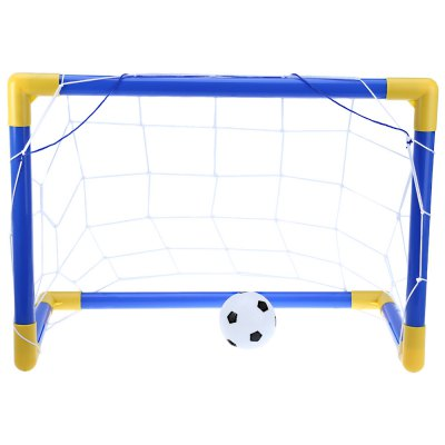 Mini Football Soccer Goal Post Net Set with PumpMini Football Soccer Goal Post Net Set with Pump<br><br>Age Range: &gt; 3 years old<br>Features: Inflatable<br>Material: Plastic<br>Type: Softball<br>Product weight: 0.210 kg<br>Package weight: 0.270 kg<br>Package Size(L x W x H): 56.00 x 15.00 x 2.50 cm / 22.05 x 5.91 x 0.98 inches<br>Package Contents: 1 x Mini Soccer Goal Set