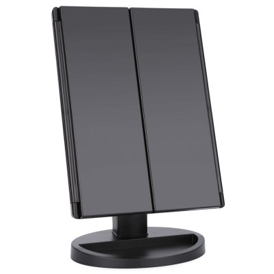 Portable Folding Table 16 LEDs Lamp Luminous Cosmetic MirrorMakeup Brushes &amp; Tools<br>Portable Folding Table 16 LEDs Lamp Luminous Cosmetic Mirror<br><br>Color: Black,White<br>Feature: Illuminated<br>Frame material: ABS<br>Material: Plastic<br>Mirror Shape: Rectangle<br>Package Contents: 1 x Cosmetic Mirror, 1 x USB Connection Line<br>Package Size(L x W x H): 32.50 x 20.50 x 10.00 cm / 12.8 x 8.07 x 3.94 inches<br>Package weight: 0.9740 kg<br>Product Size(L x W x H): 23.50 x 17.50 x 2.50 cm / 9.25 x 6.89 x 0.98 inches<br>Product weight: 0.7940 kg<br>Style: Chinese Style<br>Type: Framed Mirrors