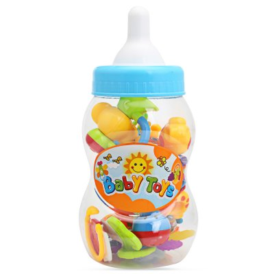 SL94802 - 4 Baby Hand Shake Bell Ring Rattles Toy Set