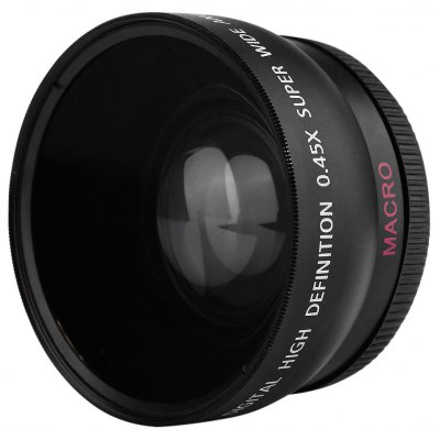 HD 0.45X 55MM Wide Angle Macro Camera Lens