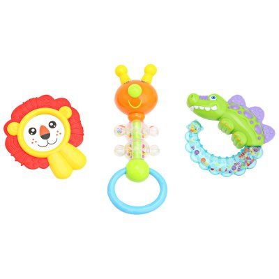 3pcs Baby Hand Shake Bell Ring Rattle Toy