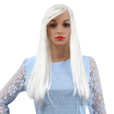 Long Straight Wigs with Bangs for Cosplay Street Shooting Halloween Masquerade