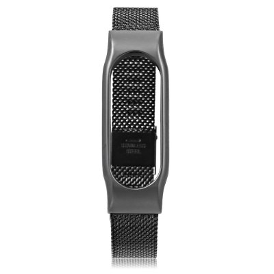 D.MRX Metal Case Watch Strap for Xiaomi Miband 2Smart Watch Accessories<br>D.MRX Metal Case Watch Strap for Xiaomi Miband 2<br><br>Band Length: 9.96 inch<br>Band Material Type: Stainless Steel<br>Band Width: 18mm<br>Clasp type: Hook Buckle<br>Package Contents: 1 x D.MRX Watch Strap for Xiaomi Miband 2<br>Package Size(L x W x H): 26.30 x 2.80 x 2.30 cm / 10.35 x 1.1 x 0.91 inches<br>Package weight: 0.104 kg<br>Product Size(L x W x H): 25.30 x 1.80 x 1.30 cm / 9.96 x 0.71 x 0.51 inches<br>Product weight: 0.037 kg