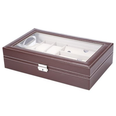 Multifunctional PU Watch Glasses Display Box