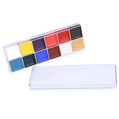 12 Color Flash Tattoo Non-toxic Face Paint Body Art Painting