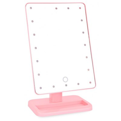 20 LEDs Portable Touch Screen 180 Rotating Cosmetic Mirror