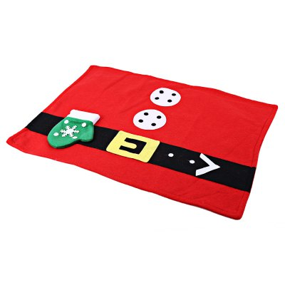 Christmas Santa Claus Glove Pattern Food Placemat
