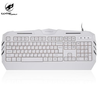 Warwolf K3 Wired Optical Gaming Keyboard with LED Backlit