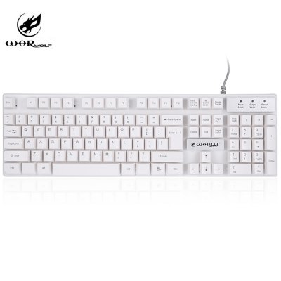 Warwolf K1 Wired Optical Gaming Keyboard with LED Backlit