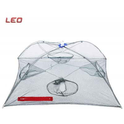 LEO Shrimp Crab Crawdad Minnow Fishing Net with 4 Hole