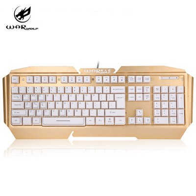 Warwolf K5 USB Wired Gaming Keyboard with Backlit