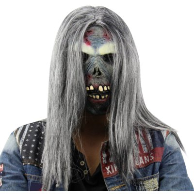 Creepy Cool Long Wig Undead Ghosts Monsters Latex Mask