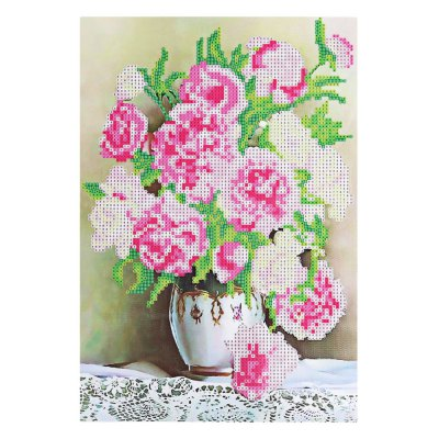 38 x 28cm Peony Floral 5D Embroidery Diamond Stitch Tool