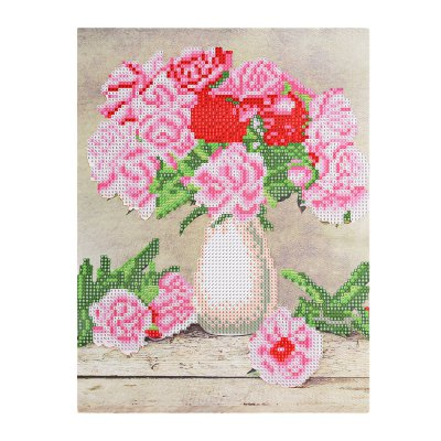 38 x 30cm Mosaic Oil Flowers 5D Embroidery Diamond Stitch Tool