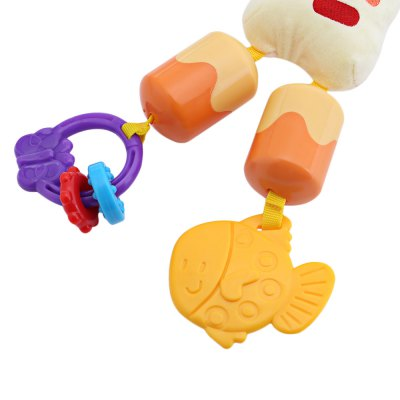 Infant Cartoon Animal Shape Rattle Toy Hanging Bed Bell