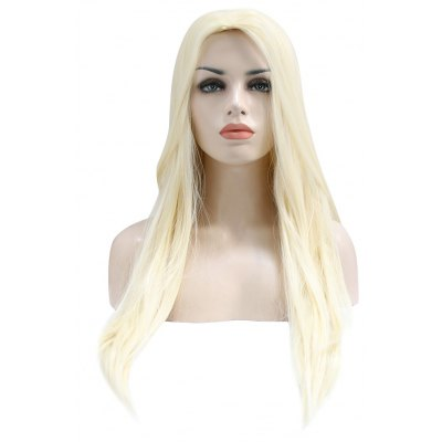 Long Straight Off-white Wigs Synthetic Hair Cosplay for The Hobbit Lord of Rings Thranduil Figure