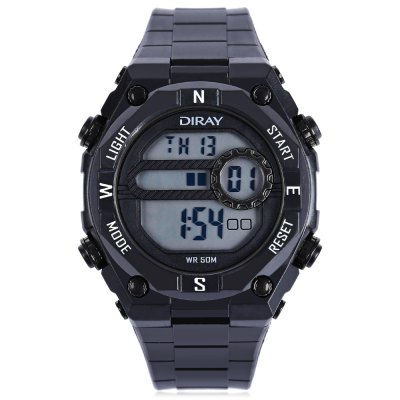 DIRAY DR - 307G Children LED Digital WatchKids Watches<br>DIRAY DR - 307G Children LED Digital Watch<br><br>Band Length: 8.47 inch<br>Band Material Type: PU<br>Band Width: 20mm<br>Case material: Plastic<br>Case Shape: Round<br>Clasp type: Pin Buckle<br>Dial Diameter: 1.77 inch<br>Dial Display: Digital<br>Dial Window Material Type: Plastic<br>Feature: Alarm,Date,Day,Led Display,Luminous<br>Gender: Children<br>Movement: Digital<br>Style: Sport<br>Water Resistance Depth: 50m<br>Product weight: 0.050 kg<br>Package weight: 0.128 kg<br>Product Size(L x W x H): 26.00 x 4.50 x 1.50 cm / 10.24 x 1.77 x 0.59 inches<br>Package Size(L x W x H): 8.00 x 8.00 x 8.00 cm / 3.15 x 3.15 x 3.15 inches<br>Package Contents: 1 x DIRAY DR - 307G Children LED Digital Watch