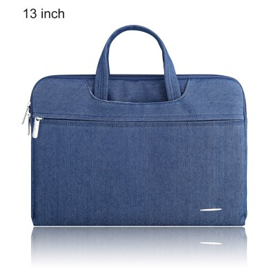 SSIMOO 2 in 1 Jean Fabric Laptop Sleeve Zipper Bag for MacBook 13 inch