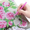 best 38 x 28cm Peony Floral 5D Embroidery Diamond Stitch Tool