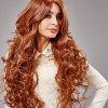 cheap European Women Texture Long Curly Golden Brown Wigs