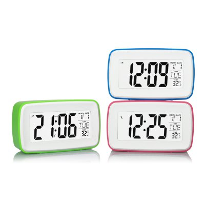 8 in 1 Touch LCD Screen Digital Snooze Clock