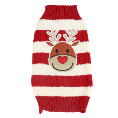 Cartoon Christmas Deer Pet Dog Cotton Coat