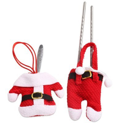 6 Pairs Christmas Snowman Cutlery Bags