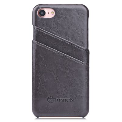 TOMKAS Oil Wax PU Leather Back Cover with Card Holder Function for iPhone 7
