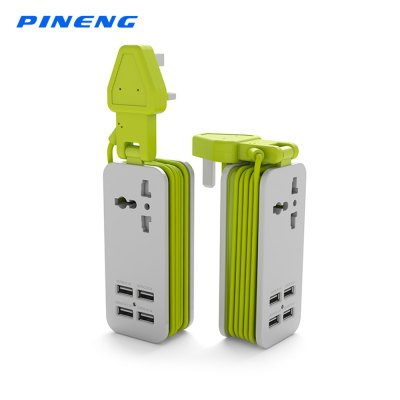 PINENG PN - 333 Single Outlet 4 USB Output Electric Socket
