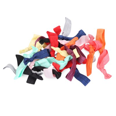 30pcs Elastic Hair Ties Rubber Band Knotted Ponytail Holder