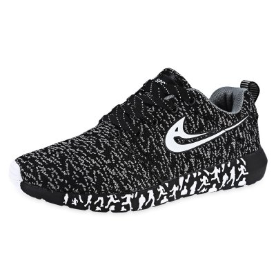 Mesh Lace Up Male Running Shoes