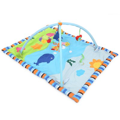 Baby Soft Play Mat Folding Gym Blanket with Frame - Ocean