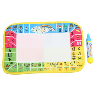 Kids Mini Magic Water Drawing Russian Writing Mat Toy