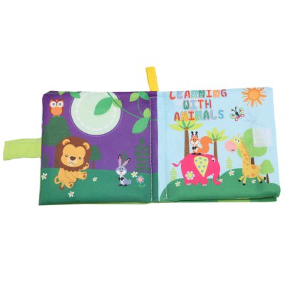 Cartoon Baby English Learning Soft Cloth Book
