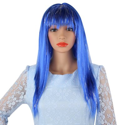 Long Straight Mixed Colors Wigs Rain Hairstyle