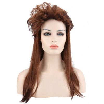 Long Straight Anti-alice Layer Brown Wigs