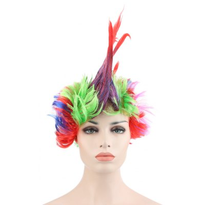 Funny Large Colorful Mohawk Wig for Cosplay Carnival Dance Masquerade Halloween Christmas Party