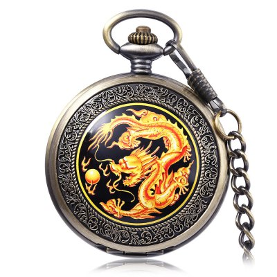 PC39 Vintage Mechanical Hand Wind Pocket Watch
