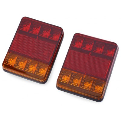 12V LED Truck Trailer Rear Tail Brake Light Indicator Lamp
