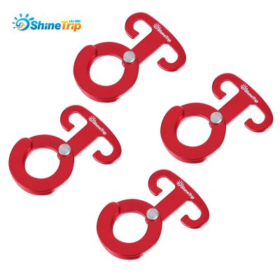 SHINETRIP 4pcs Outdoor Multifunction Tent Hook Accessory