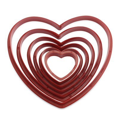 6pcs Heart Shape Fondant Mold
